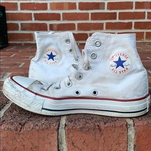 Loved white high-top converse